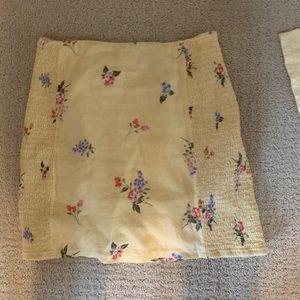 Yellow Flower Mini Skirt